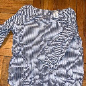 Blue & white blouse